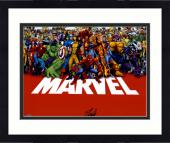 "Framed Stan Lee Autographed 16"" x 20"" Marvel Universe Photograph with Black Ink - BAS COA"