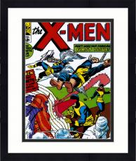 "Framed Stan Lee Autographed 16"" x 20"" X-Men #1 Photograph with Black Ink - BAS COA"