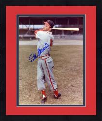 "Framed Stan Musial St. Louis Cardinals Autographed 8"" x 10"" Swinging Photograph"