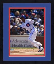 "Framed Starlin Castro Chicago Cubs Autographed 8"" x 10"" Run Photograph"