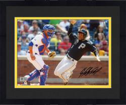Framed Starling Marte Pittsburgh Pirates Autographed 8'' x 10'' Sliding Home Photograph