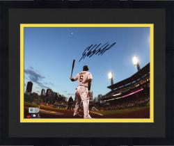 Framed Starling Marte Pittsburgh Pirates Autographed 8'' x 10'' Waiting On Deck Photograph
