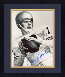 Framed Roger Staubach Dallas Cowboys Autographed 8'' x 10'' Black and White Close Up Photograph
