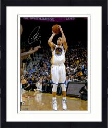 "Framed Stephen Curry Golden State Warriors Autographed 16"" x 20"" White Uniform Shooting Photograph"