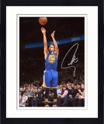 "Framed Stephen Curry Golden State Warriors Autographed 8"" x 10"" Blue Uniform Shooting Photograph"