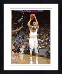 "Framed Stephen Curry Golden State Warriors Autographed 8"" x 10"" White Uniform Shooting Photograph"