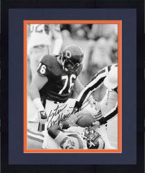"Framed Steve McMichael Chicago Bears Autographed 12"" x 18"" Eric Dickerson Tackle Photograph"