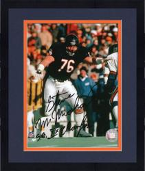 "Framed Steve McMichael Chicago Bears Autographed 8"" x 10"" vs New York Giants Photograph with SB XX Champs Inscription"
