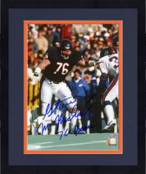 "Framed Steve McMichael Chicago Bears Super Bowl XX Autographed 8"" x 10"" Action Photograph with 76 Bears Inscription"