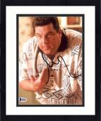 "Framed Steve Schirripa Autographed 8"" x 10"" The Sopranos Leaning Over Talking Photograph - Beckett COA"
