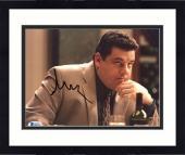 "Framed Steve Schirripa Autographed 8"" x 10"" The Sopranos Sitting in Restaurant Looking Up Photograph - Beckett COA"