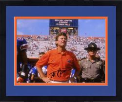 "Framed Steve Spurrier Florida Gators Autographed 8"" x 10"" Coach Photograph"
