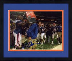 "Framed Steve Spurrier Florida Gators Autographed 8"" x 10"" Gatorade Dump Photograph"