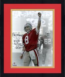 "Framed Steve Young San Francisco 49ers Autographed 16"" x 20"" Image"