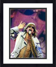 "Framed Steven Tyler Autographed 11"" x 14"" Aerosmith Wearing Jean Jacket Photograph - PSA/DNA COA"