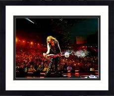 "Framed Steven Tyler Autographed 11"" x 14"" Leaning with Microphone Stand - PSA/DNA COA"