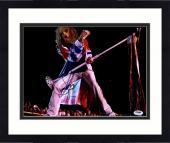 "Framed Steven Tyler Autographed 11"" x 14"" Singing and Holding Microphone Stand Photograph - PSA/DNA COA"