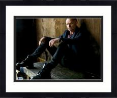 """Framed Sting Autographed 11"""" x 14"""" Sitting in Wooden Room Photograph - Beckett COA"""