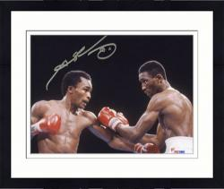 "Framed Sugar"" Ray Leonard Autographed 8"" x 10"" Photograph"