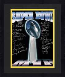 Framed Super Bowl MVP Autographed Trophy 16'' x 20'' Photo