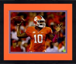 Framed Tajh Boyd Clemson Tigers Autographed 16'' x 20'' Horizontal Passing Photograph