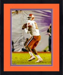 Framed Tajh Boyd Clemson Tigers Autographed 16'' x 20'' Orange Bowl Drop Back Pass Photograph