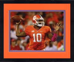 Framed Tajh Boyd Clemson Tigers Autographed 8'' x 10'' Horizontal Passing Photograph