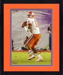 Framed Tajh Boyd Clemson Tigers Autographed 8'' x 10'' Orange Bowl Drop Back Pass Photograph