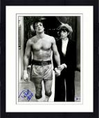 """Framed Talia Shire Autographed 11"""" x 14"""" Walking With Sylvester Stallone Rocky Photograph - Beckett COA"""