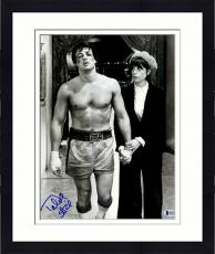 "Framed Talia Shire Autographed 11"" x 14"" Walking With Sylvester Stallone Rocky Photograph - Beckett COA"
