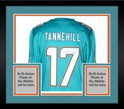 Framed Ryan Tannehill Miami Dolphins Autographed Nike Limited Aqua Jersey