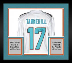 Framed Ryan Tannehill Miami Dolphins Autographed Nike Limited White Jersey