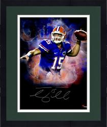 Framed Tebow, Tim Auto (gators/in Focus) 20x24 Photo