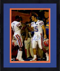 Framed Tim Tebow, Percy Harvin Florida Gators Autographed 16'' x 20'' Shaking Hands Photograph