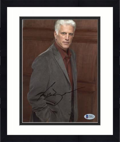 """Framed Ted Danson Autographed 8""""x 10"""" CSI: Cyber Posed Photograph - BAS COA"""