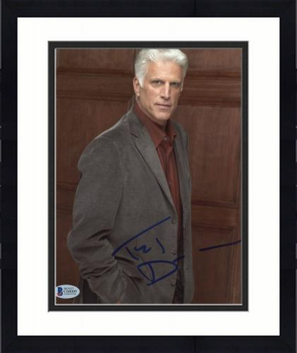 """Framed Ted Danson Autographed 8""""x 10"""" CSI: Cyber Posed Photograph With Blue Ink - BAS COA"""