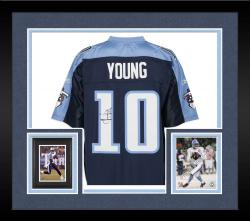 Framed Tennessee Titans Vince Young Signed Jersey