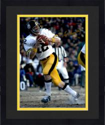 "Framed Terry Bradshaw Pittsburgh Steelers Autographed 16"" x 20"" White Jersey Photograph"