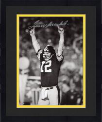 "Framed Terry Bradshaw Pittsburgh Steelers Autographed 8"" x 10"" Pointing Fingers Photograph"