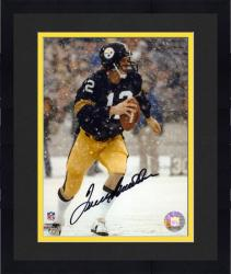 """Framed Terry Bradshaw Pittsburgh Steelers Autographed 8"""" x 10"""" Snow Photograph"""