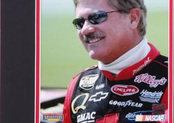 Framed Terry Labonte Matted 8x10 Photograph with Autographed Cut Piece - Mounted Memories