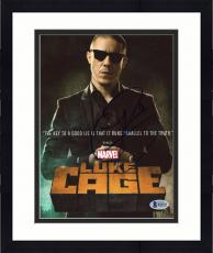 """Framed Theo Rossi Autographed 8"""" x 10"""" Luke Cage Photograph - Beckett COA"""