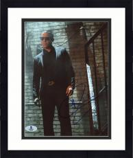 "Framed Theo Rossi Autographed 8"" x 10"" Luke Cage Wearing Black Tux on Stairs Photograph - Beckett COA"
