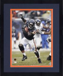 Framed Thomas Jones Chicago Bears Autographed 16'' x 20'' Arm In Air Photograph
