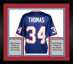 Framed Thurman Thomas Buffalo Bills Autographed Pro Line Blue Jersey with HOF 2007 Inscription