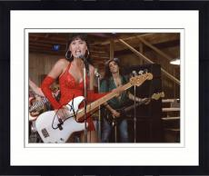 Framed Tia Carrera Autographed 8'' x 10'' Playing Guitar Photograph