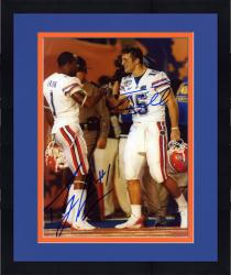 """Framed Tim Tebow and Percy Harvin Florida Gators Autographed 8"""" x 10"""" Fist Pump Photograph"""