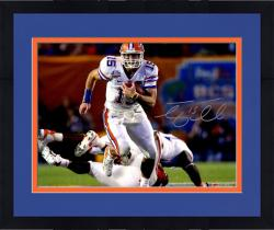"""Framed Tim Tebow Florida Gators Autographed 16"""" x 20"""" Run In BCS Game vs Oklahoma Photograph"""