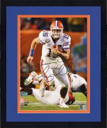 "Framed Tim Tebow Florida Gators Autographed 16"" x 20"" Running Photograph"