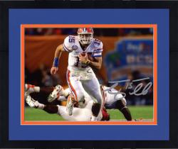 """Framed Tim Tebow Florida Gators Autographed 8"""" x 10"""" Run In BCS Game vs Oklahoma Photograph"""